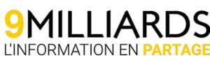 Logo 9 Milliards, l'information en partage